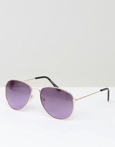 Солнцезащитные очки-авиаторы с фиолетовыми линзами AJ Morgan - Фиолетовый