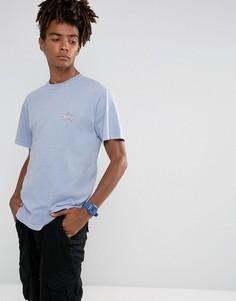 Синяя футболка с логотипом Stussy - Синий