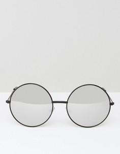 Круглые солнцезащитные очки в стиле oversize AJ Morgan - Черный