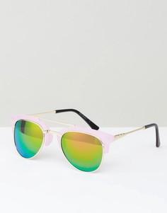 Розовые солнцезащитные очки с зеркальными линзами AJ Morgan - Розовый