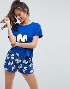 Пижамный комплект с футболкой и шортами ASOS Girly Eyes - Мульти