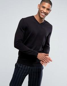 Джемпер из кашемировой смеси с V-образным вырезом Esprit - Черный