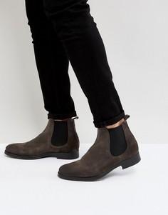 Серые замшевые ботинки челси Selected Homme Oliver - Серый
