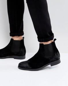 Черные замшевые ботинки челси Selected Homme Oliver - Черный