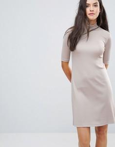 Платье с высоким воротом Y.A.S Sheila - Розовый