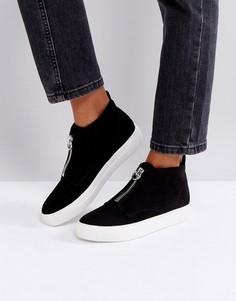 Кроссовки с молнией New Look - Черный