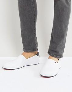 Белые кожаные кеды-слипоны Tommy Hilfiger Howell - Белый
