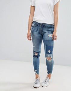 Укороченные рваные джинсы Hollister - Синий