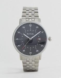 Серебристые часы-браслет с циферблатом диаметром 41 мм Paul Smith P10073 - Серебряный