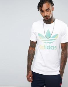 Белая футболка с логотипом-трилистником adidas Originals BQ7927 - Белый