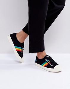 Черные кроссовки с радужной отделкой Gola Coaster - Черный
