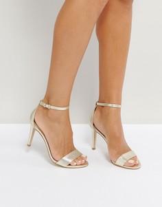 Золотистые босоножки на каблуке ALDO - Золотой