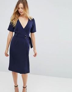 Платье с запахом Glamorous - Темно-синий