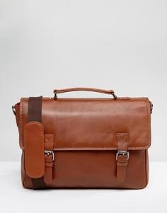 Светло-коричневая сумка почтальона British Belt Co - Рыжий