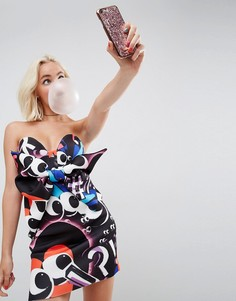 Платье-бандо мини с бантом спереди ASOS x The Emoji Movie - Мульти