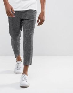 Черные строгие брюки ASOS - Черный