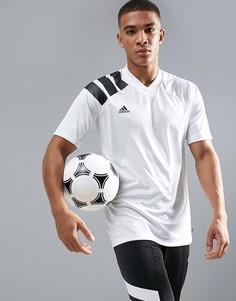 Белая футболка с принтом в стиле 90-х adidas Football CD1092 - Белый