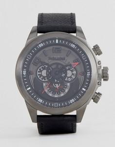 Часы с черным многофункциональным циферблатом Police Belmont - Черный
