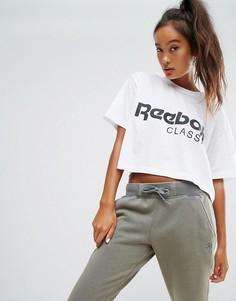 Белая укороченная футболка Reebok Classics - Белый