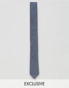 Галстук с узором в елочку Noak - Синий