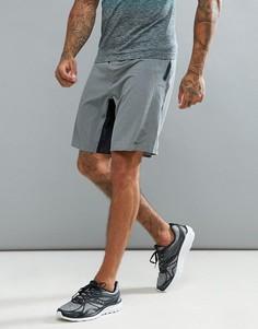 Черные эластичные шорты Saucony Running Runlife - Серый