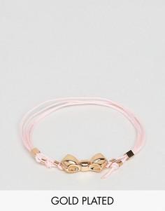 Веревочный браслет с бантом Ted Baker Baby - Розовый