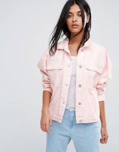 Розовая джинсовая оверсайз-куртка Waven Karin - Розовый