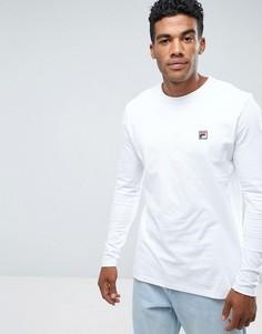 Белый лонгслив в винтажном стиле с логотипом Fila - Белый