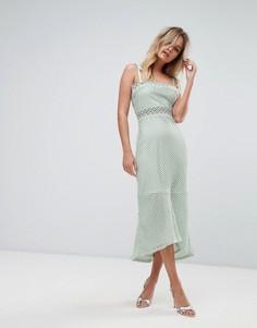 Платье миди с кружевной вставкой Vero Moda - Кремовый