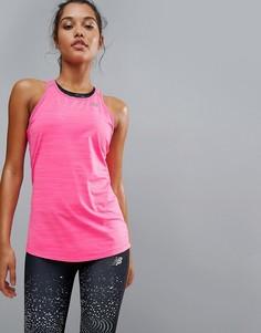 Розовый топ New Balance Running - Розовый