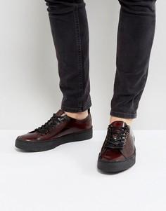 Красные кожаные туфли Fred Perry X George Cox - Красный