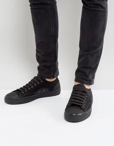 Черные парусиновые водонепромокаемые кроссовки Fred Perry - Черный
