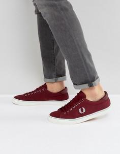 Красные парусиновые кроссовки Fred Perry Underspin - Красный