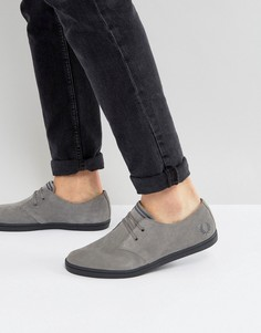 Серые низкие замшевые кроссовки Fred Perry Byron - Серый
