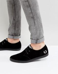 Черные низкие замшевые кроссовки Fred Perry Byron - Черный