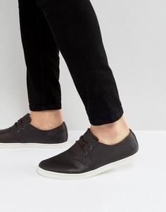 Коричневые кожаные кроссовки Fred Perry Byron - Коричневый