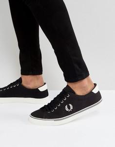 Черные парусиновые кроссовки Fred Perry Underspin - Черный