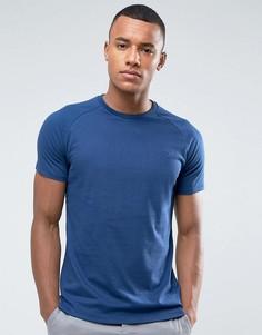 Меланжевая футболка Threadbare - Темно-синий