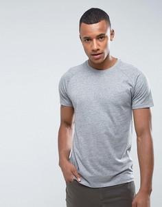 Меланжевая футболка Threadbare - Серый