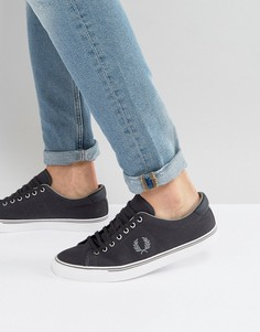 Темно-серые парусиновые кроссовки Fred Perry Underspin - Серый