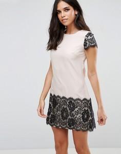 Платье с кружевной отделкой Paper Dolls - Кремовый
