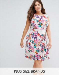 Короткое приталенное платье с цветочным принтом Koko - Мульти
