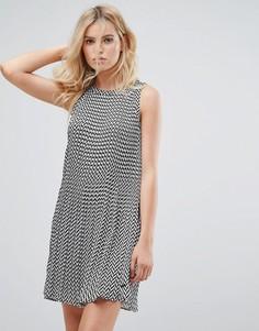Платье А-силуэта с зигзагообразным принтом Pepe Jeans Lorin - Серый