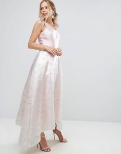 Пышное платье цвета металлик Coast - Розовый