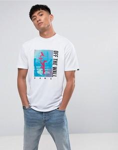 Белая футболка с принтом Vans Above Chima VA36FJWHT - Белый