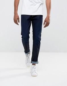 Суженные книзу джинсы цвета индиго Burton Menswear - Синий