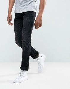 Черные зауженные джинсы с рваной отделкой Blend Cirrus - Черный