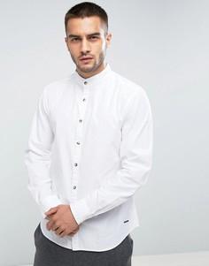 Приталенная рубашка с воротником на пуговице Esprit - Белый