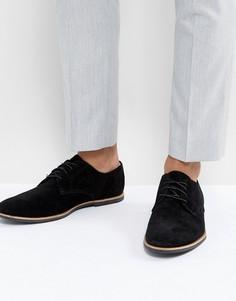 Черные замшевые туфли Zign - Черный