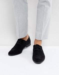 Черные замшевые туфли на шнуровке Zign - Черный